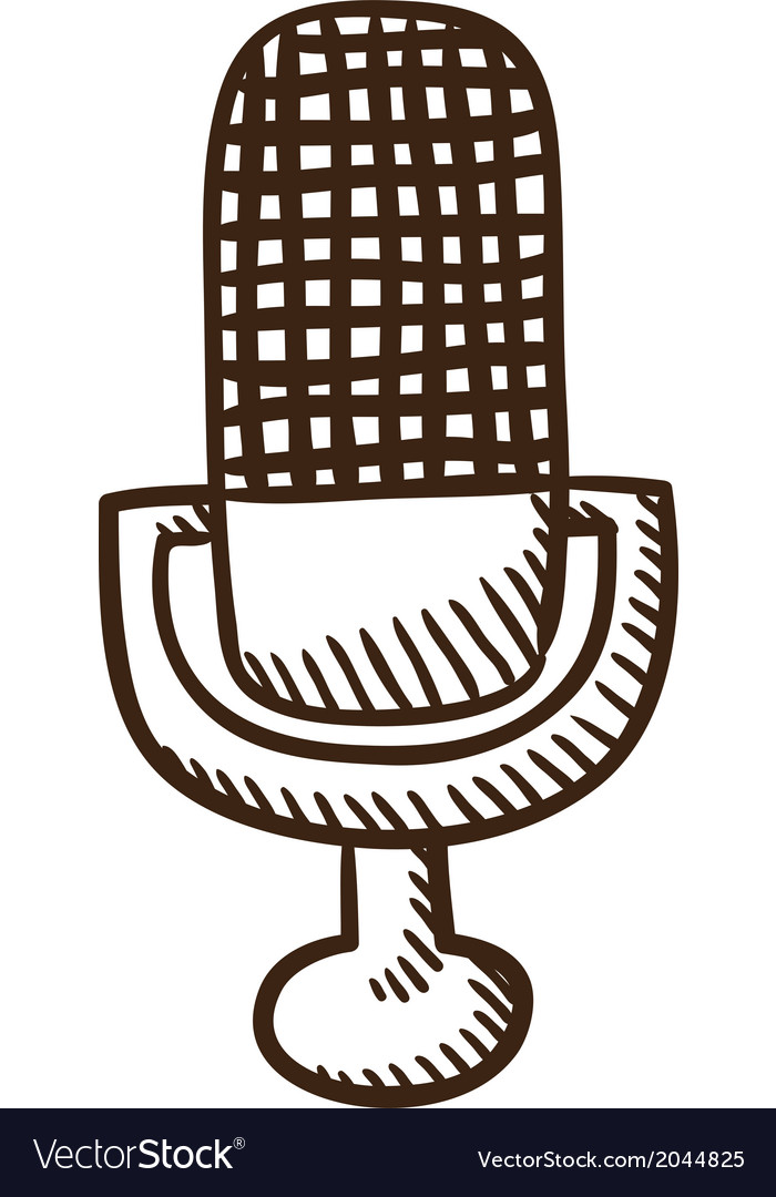 Microphone symbol vector | Price: 1 Credit (USD $1)