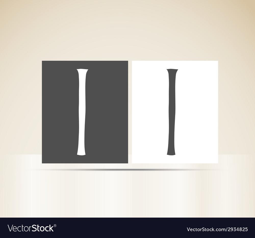 Retro alphabet letter i art deco vintage design vector | Price: 1 Credit (USD $1)