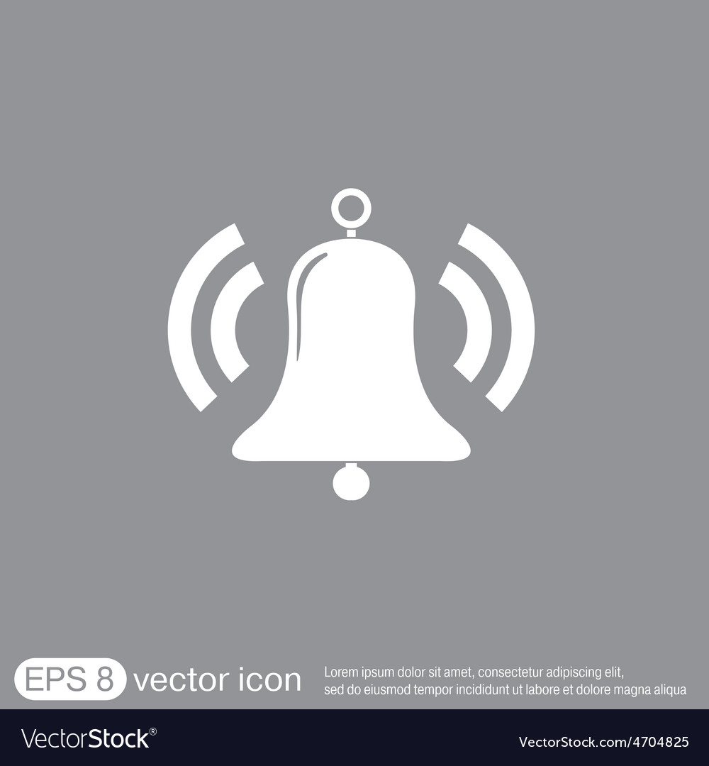 Ring bell icon eps vector   Price: 1 Credit (USD $1)