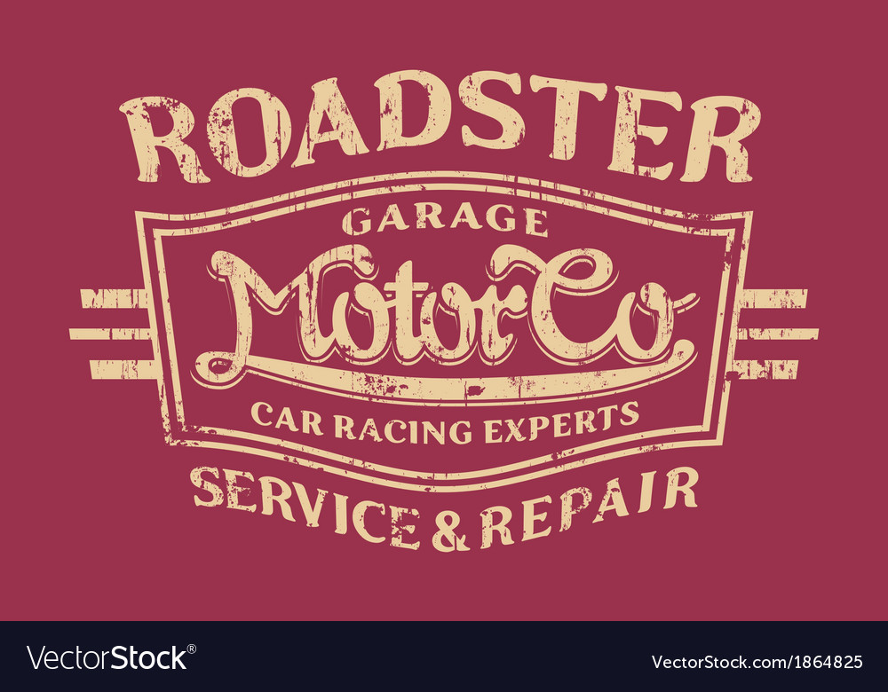 Roadster motor company vector | Price: 1 Credit (USD $1)