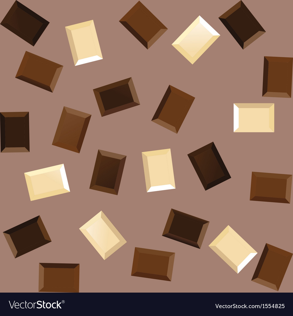 Seamless background with black and white chocolate vector | Price: 1 Credit (USD $1)