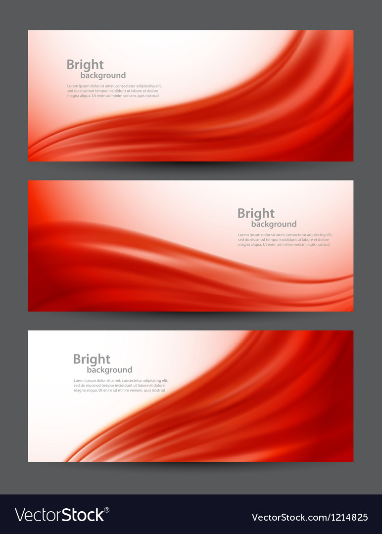Set of red banners vector | Price: 1 Credit (USD $1)