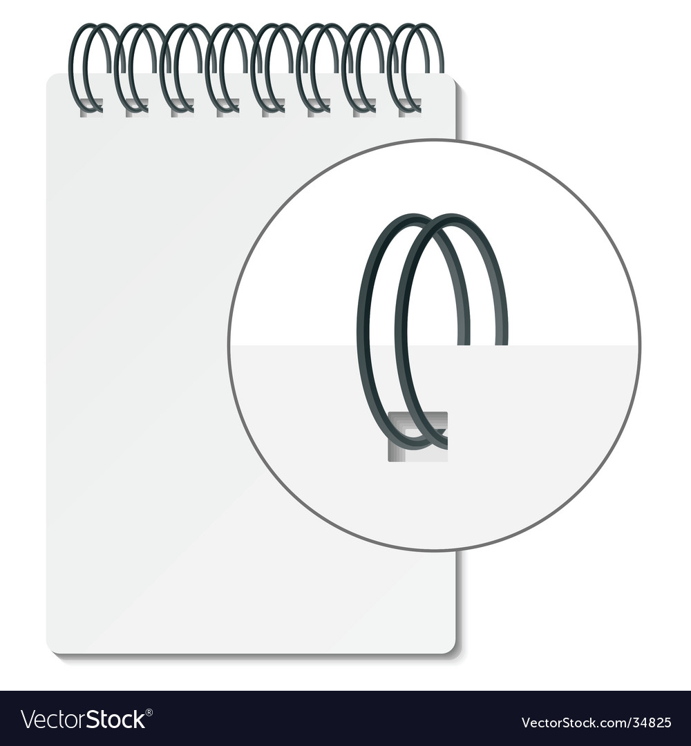 Spiral binder vector | Price: 1 Credit (USD $1)
