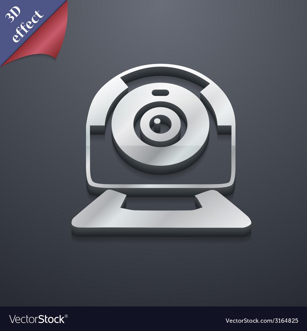 Webcam icon symbol 3d style trendy modern design vector | Price: 1 Credit (USD $1)