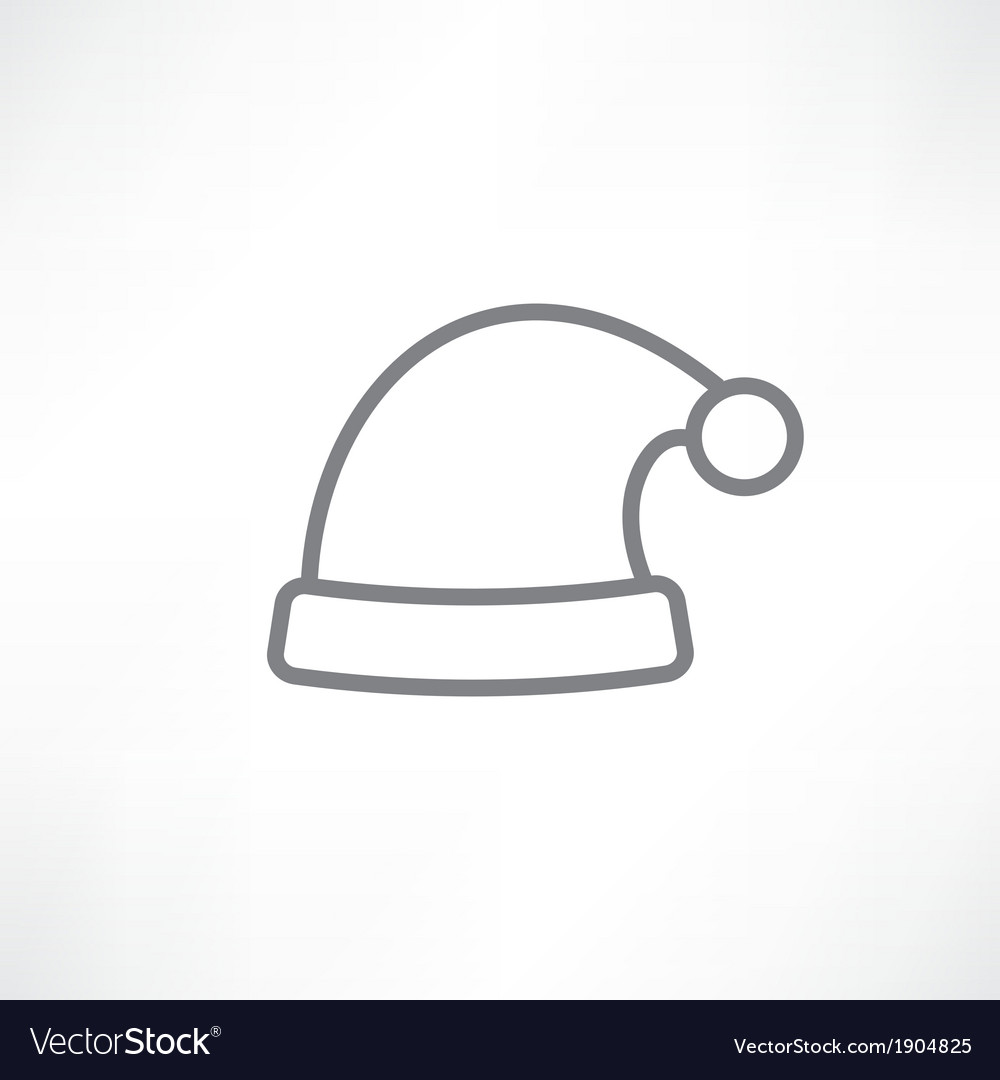 White santa hats vector | Price: 1 Credit (USD $1)