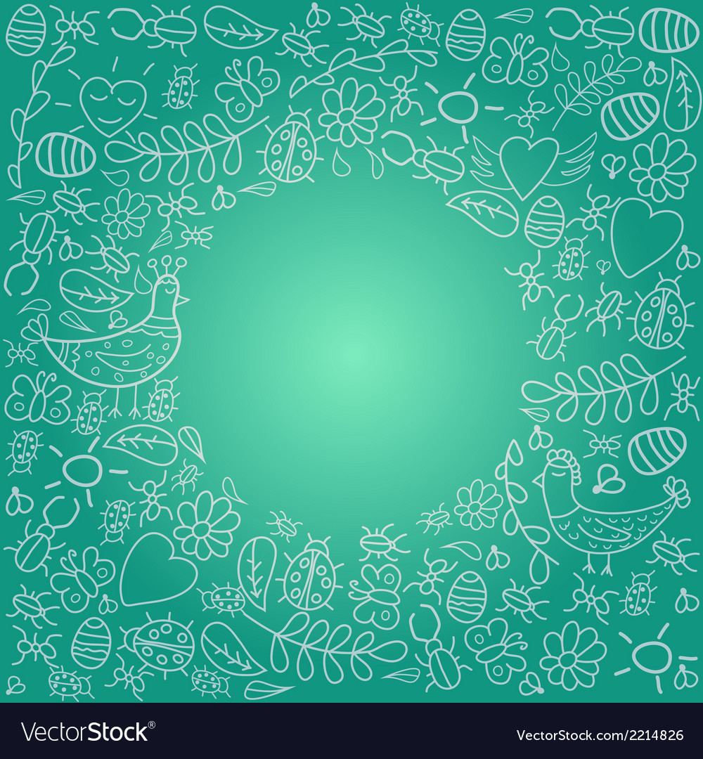 Beautiful frame with bright background vector   Price: 1 Credit (USD $1)