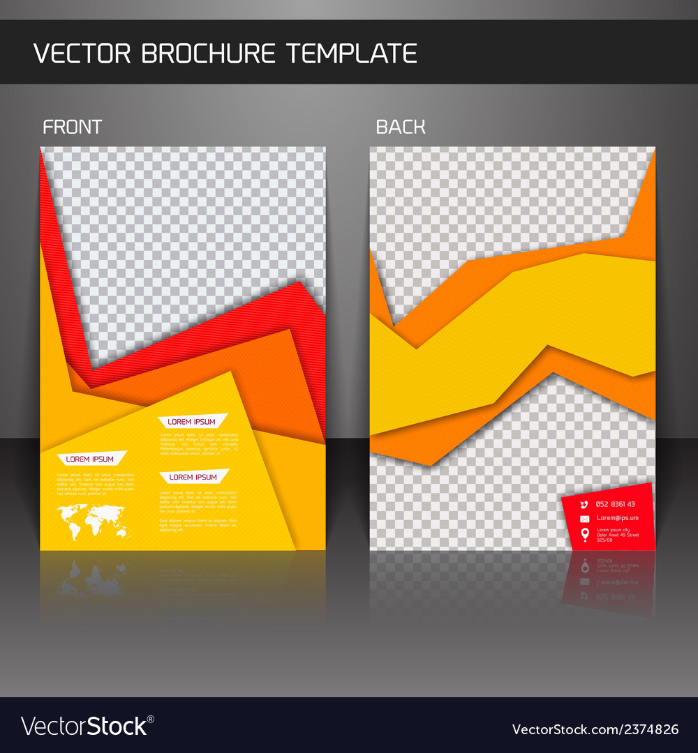 Flyer brochure template vector | Price: 1 Credit (USD $1)