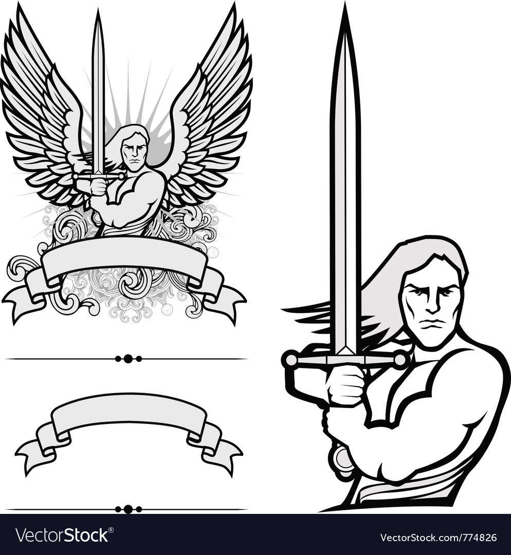 Heraldry man vector | Price: 1 Credit (USD $1)