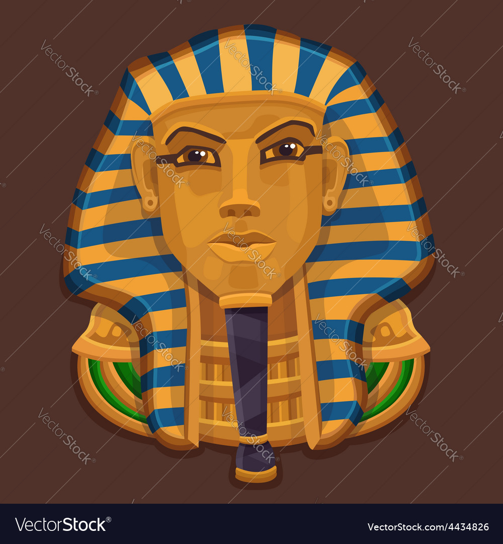 Icon golden head of the pharaoh vector | Price: 3 Credit (USD $3)