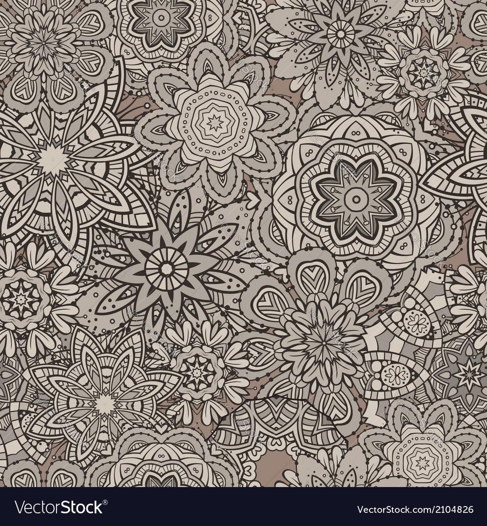 Ornamental vintage floral elements seamless vector | Price: 1 Credit (USD $1)