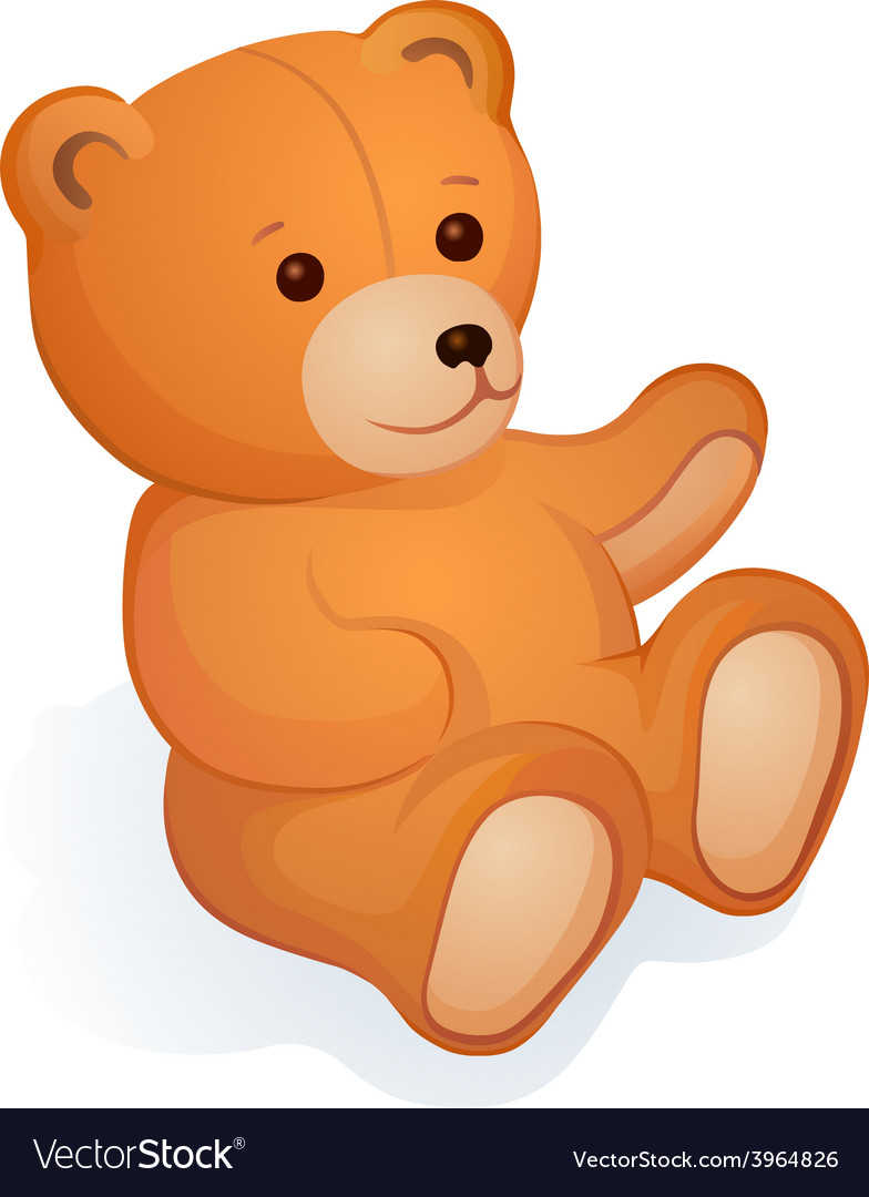 Plush bear vector | Price: 1 Credit (USD $1)