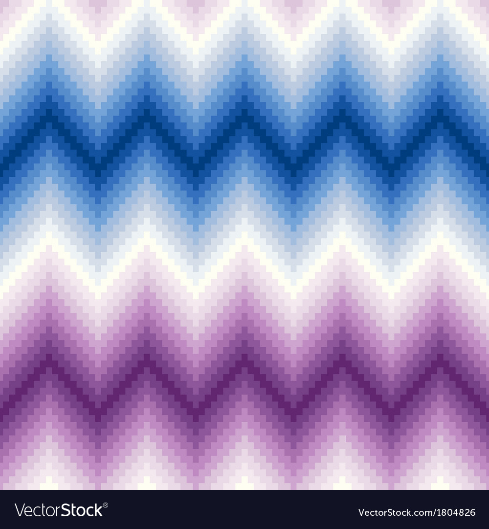 Seamless pixel chevron background pattern vector | Price: 1 Credit (USD $1)