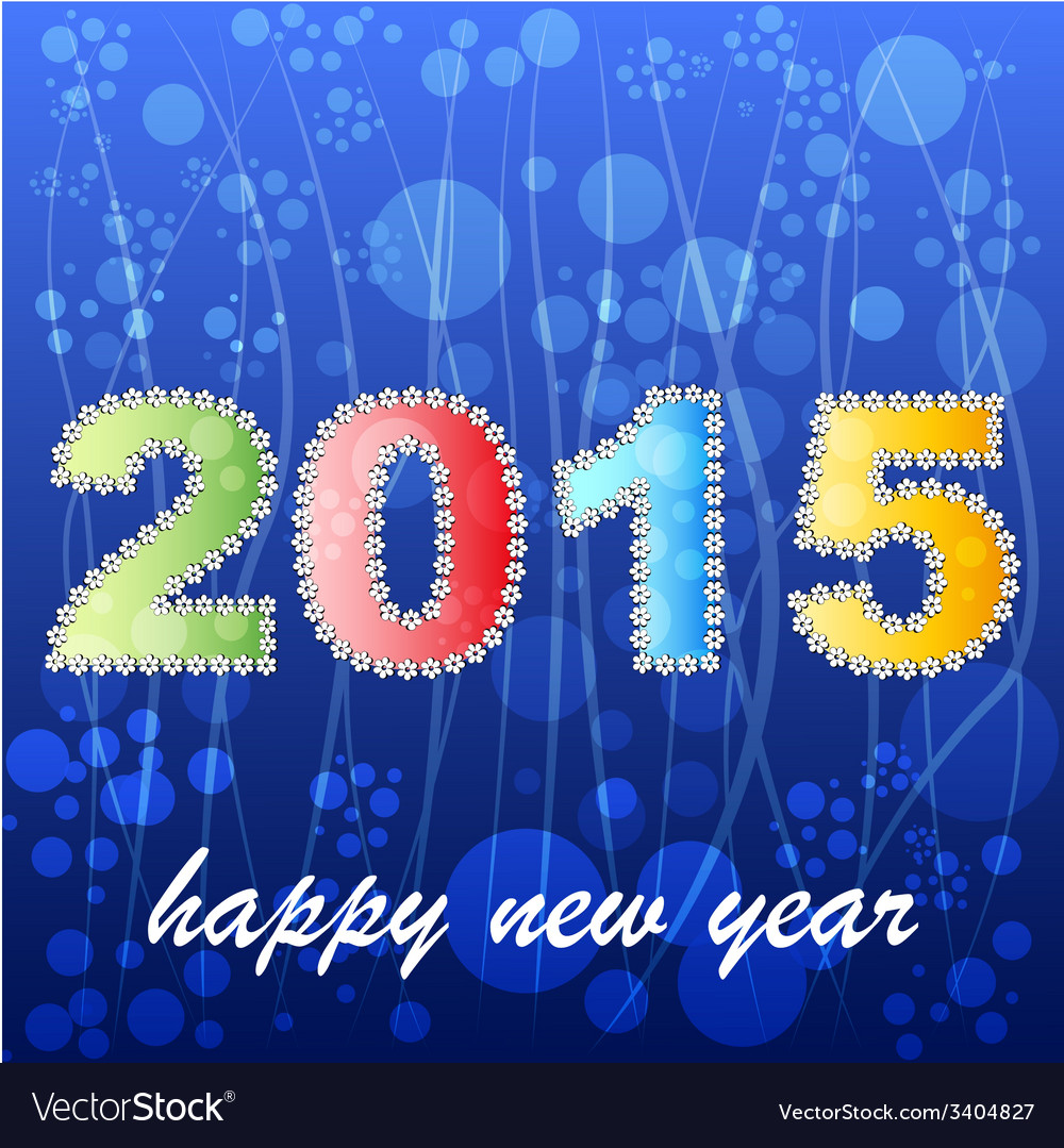 2015 year greeting card design version vector | Price: 1 Credit (USD $1)