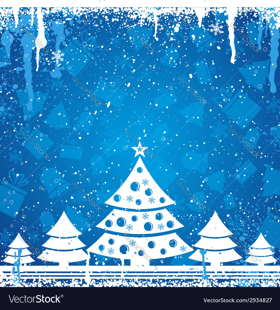 Blue christmas card vector | Price: 1 Credit (USD $1)