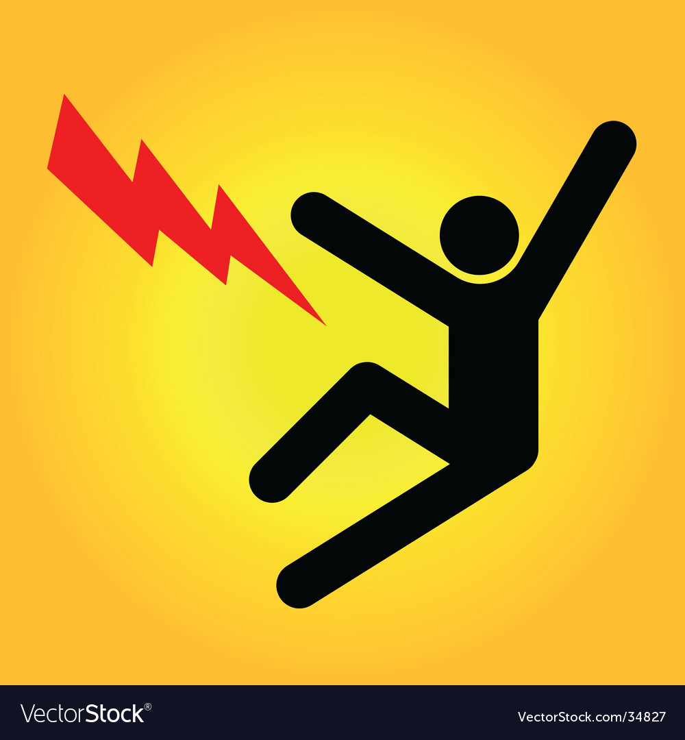 Danger sign high voltage vector | Price: 1 Credit (USD $1)