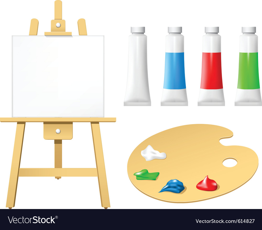 Easel with blank board vector | Price: 3 Credit (USD $3)
