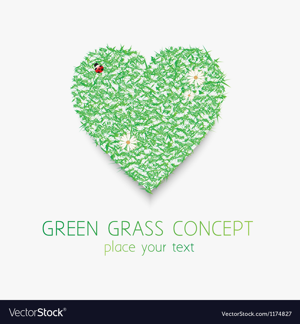 Grass hart vector | Price: 1 Credit (USD $1)