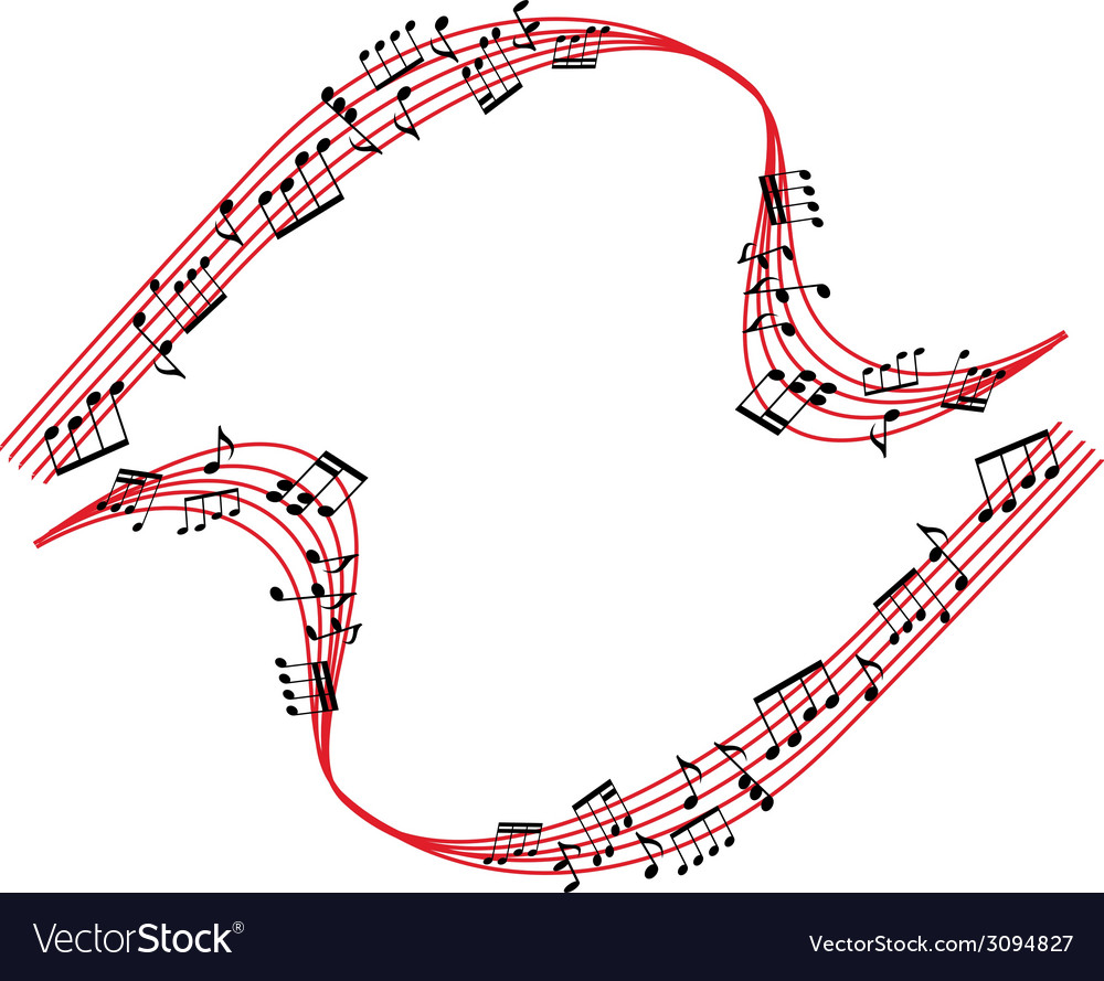 Music notes background stylish musical theme vector | Price: 1 Credit (USD $1)