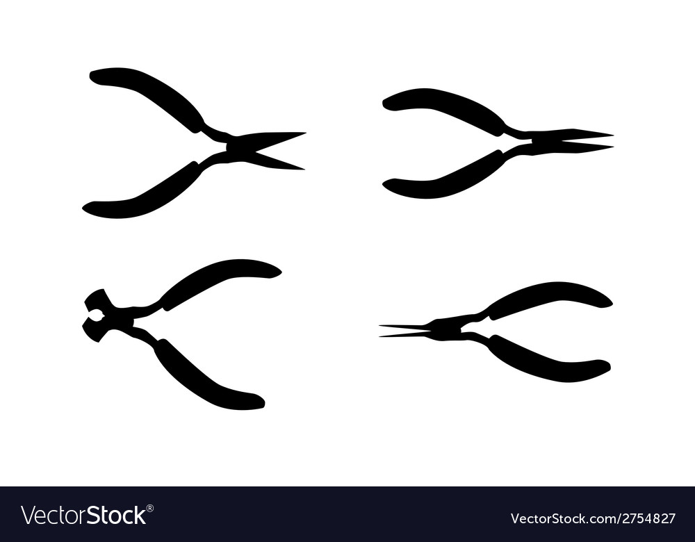 Pliers tools isolated on white bacground vector | Price: 1 Credit (USD $1)