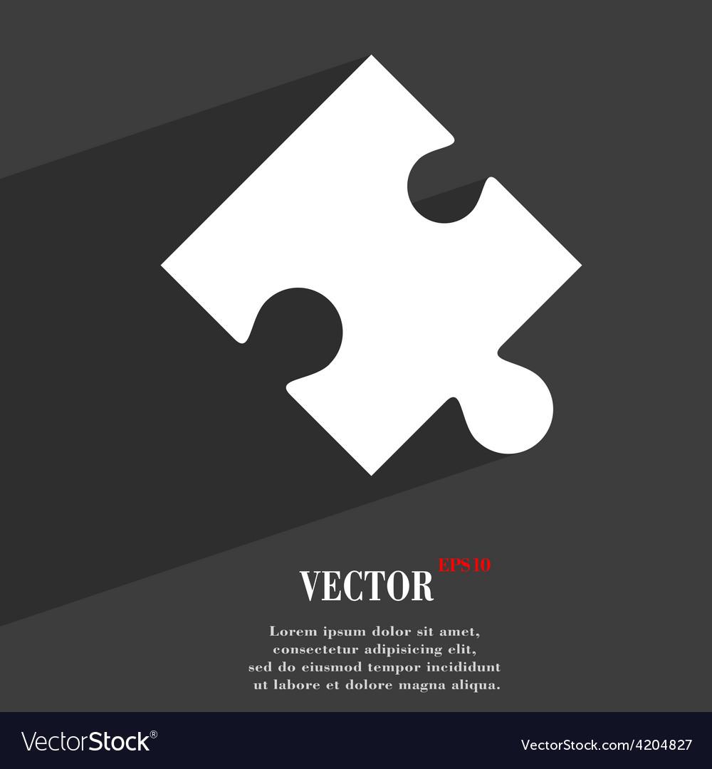 Puzzle piece icon symbol flat modern web design vector   Price: 1 Credit (USD $1)