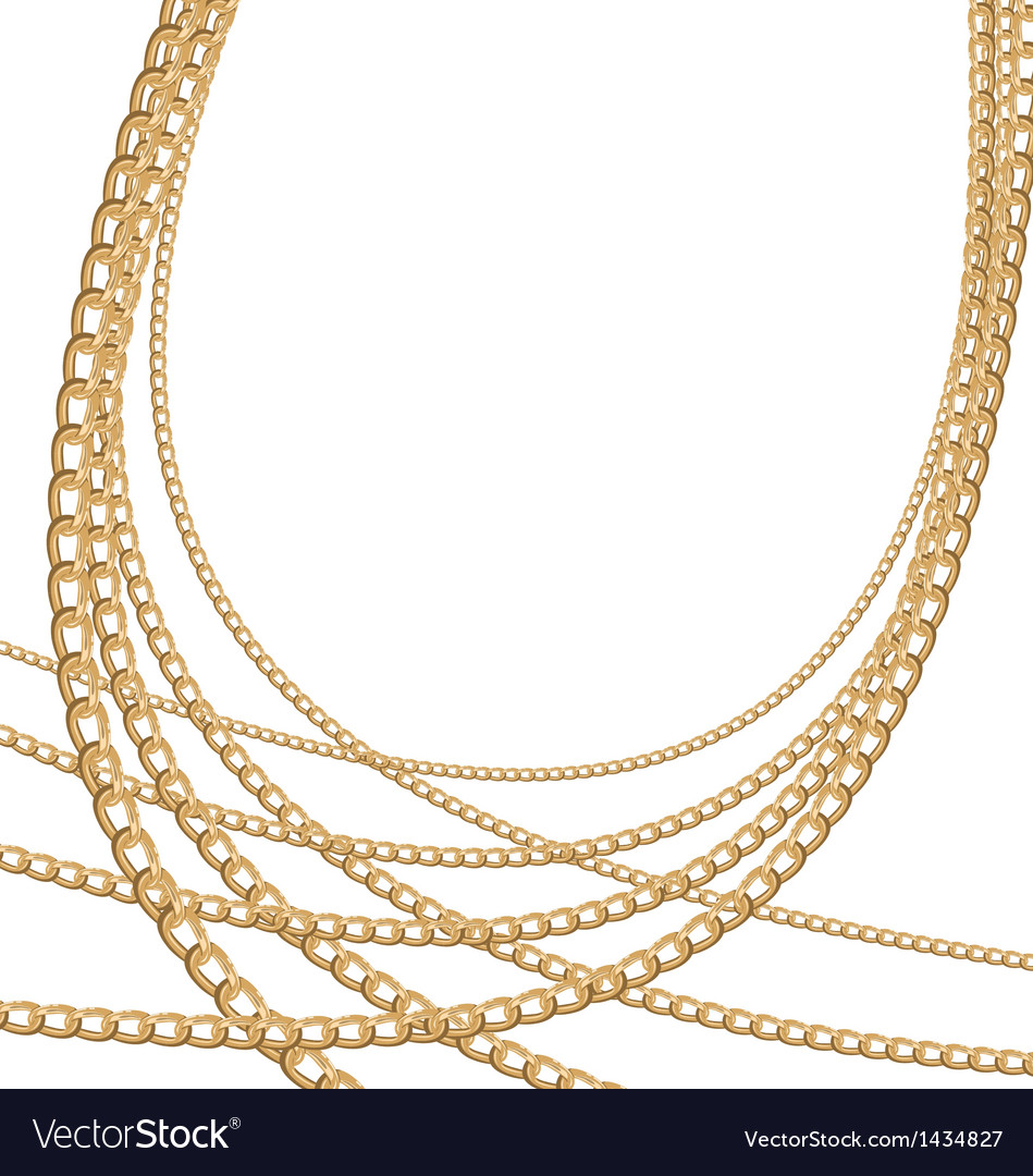 Set jewelry gold chains different size vector | Price: 1 Credit (USD $1)