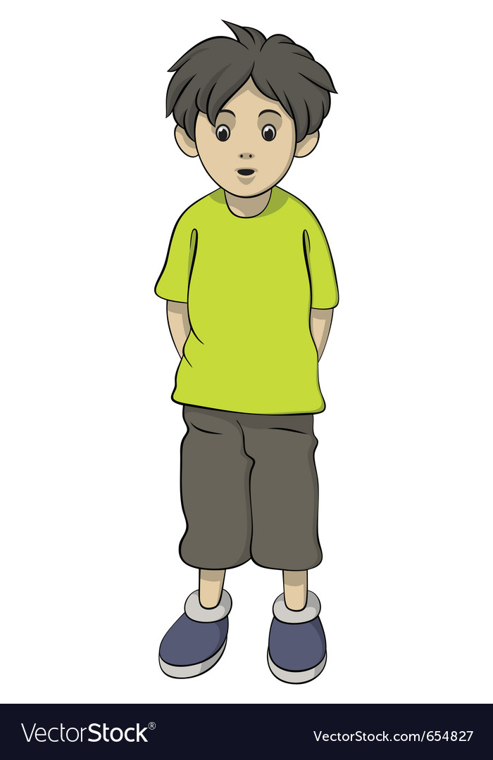 Standing boy vector | Price: 3 Credit (USD $3)