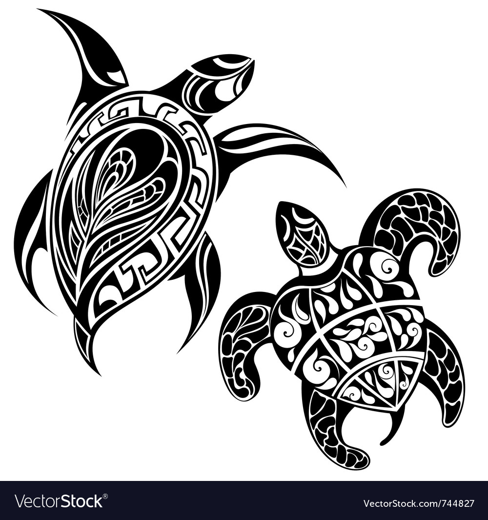Turtle a silhouette vector | Price: 1 Credit (USD $1)