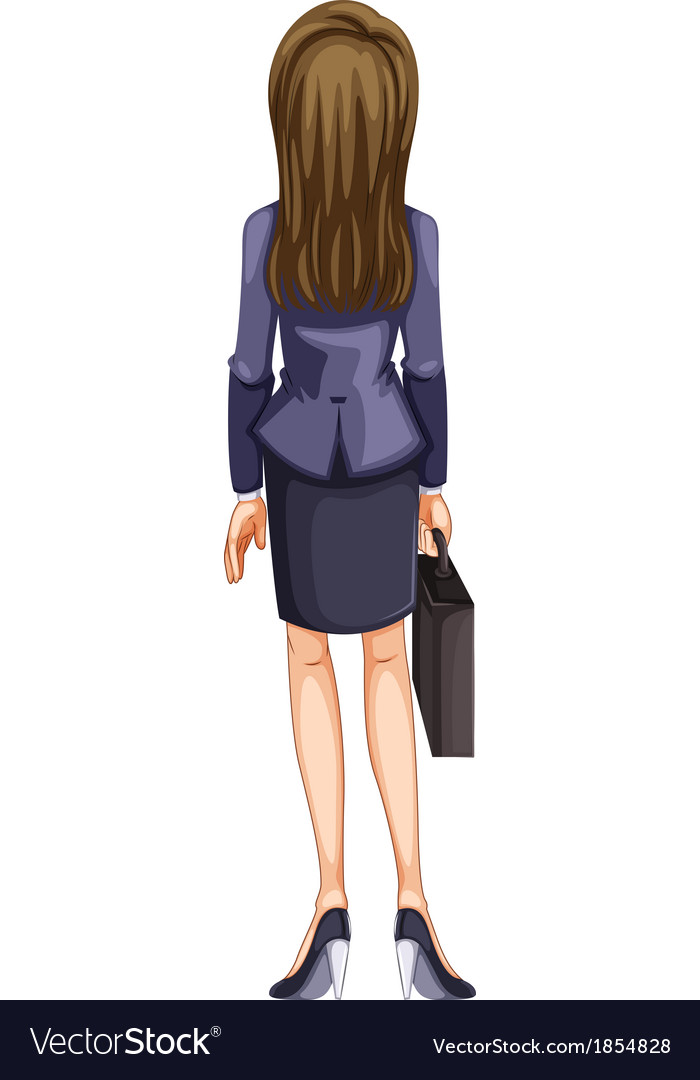A backview of a business woman vector | Price: 1 Credit (USD $1)