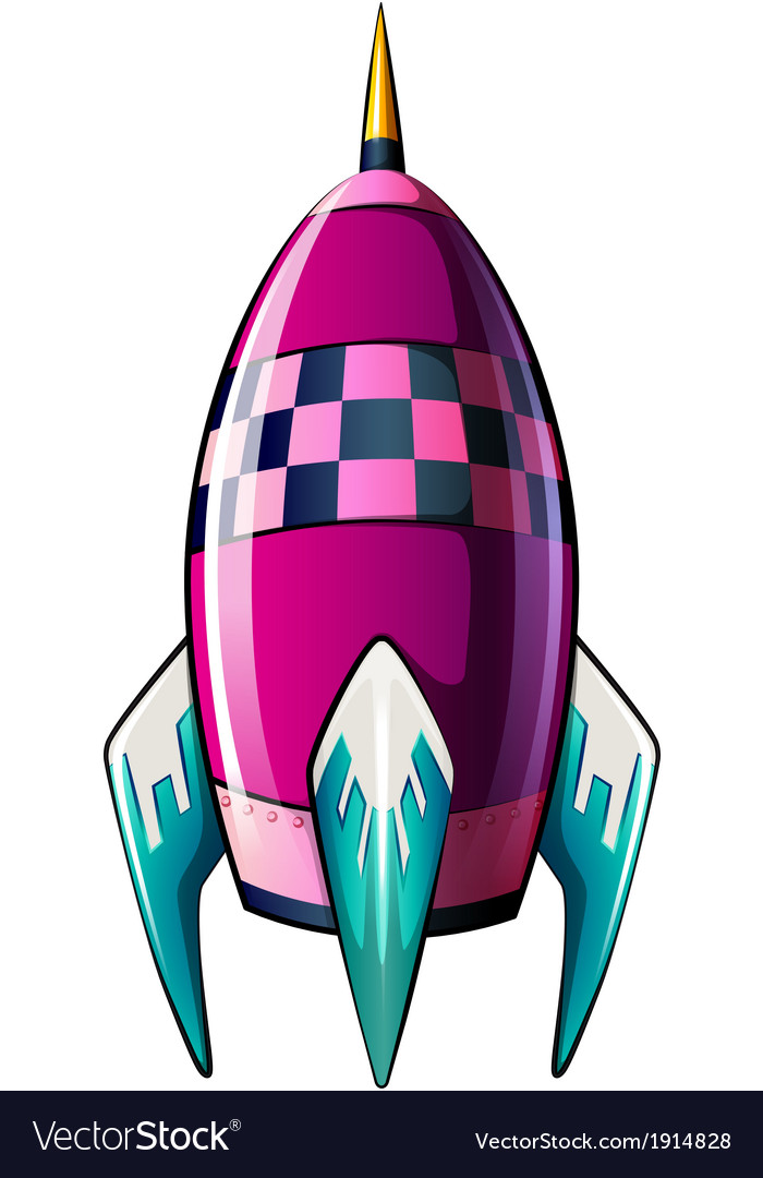 A rocket with a pointed tip vector | Price: 1 Credit (USD $1)