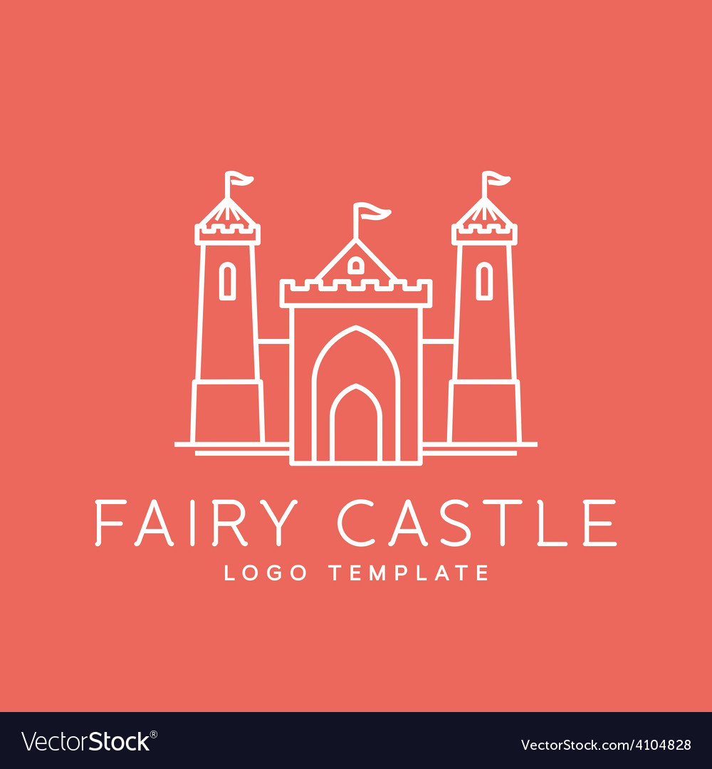 Abstract fairy tale castle line style logo vector | Price: 1 Credit (USD $1)