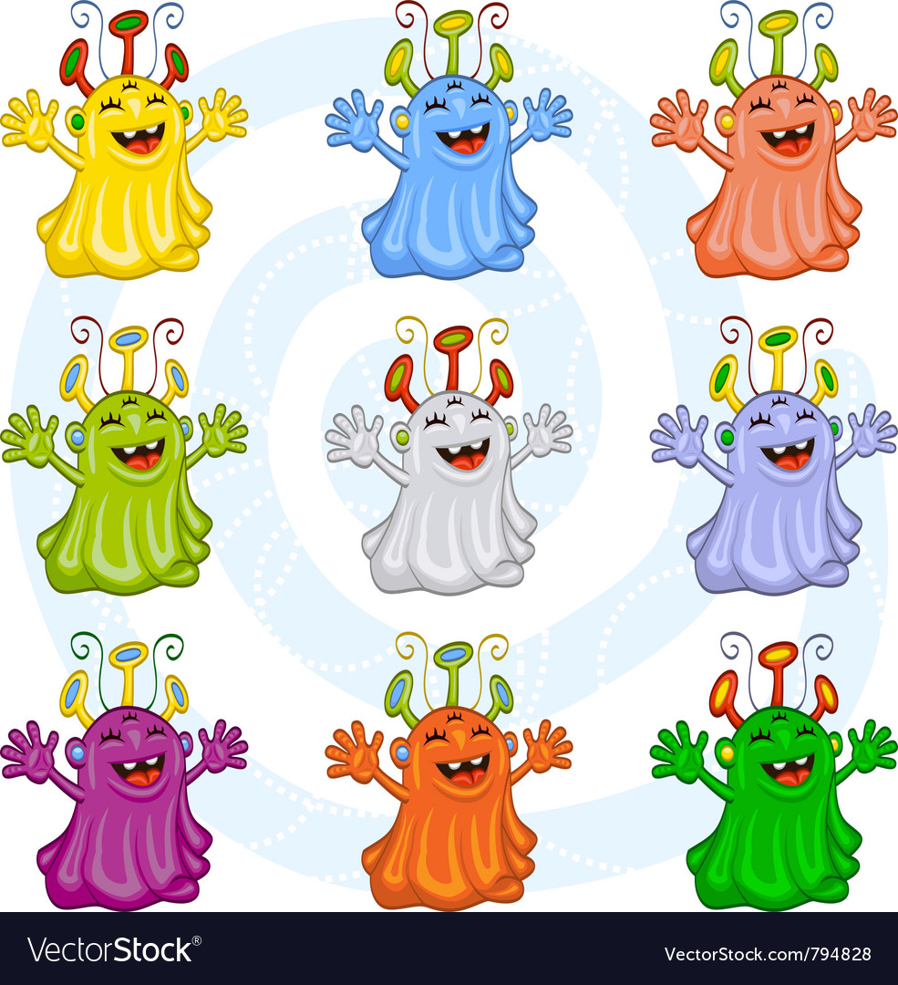 Cartoon monsters vector | Price: 3 Credit (USD $3)