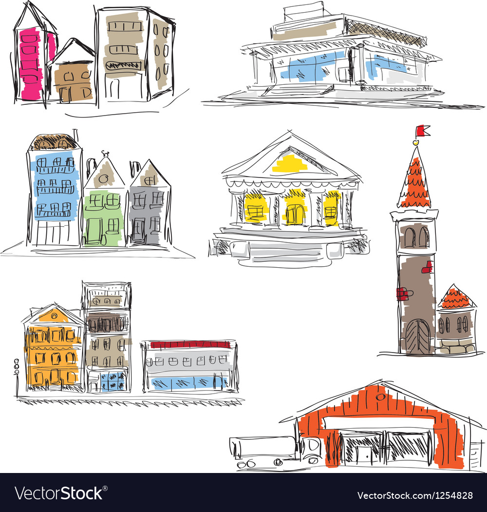 Cityscapes vector | Price: 1 Credit (USD $1)