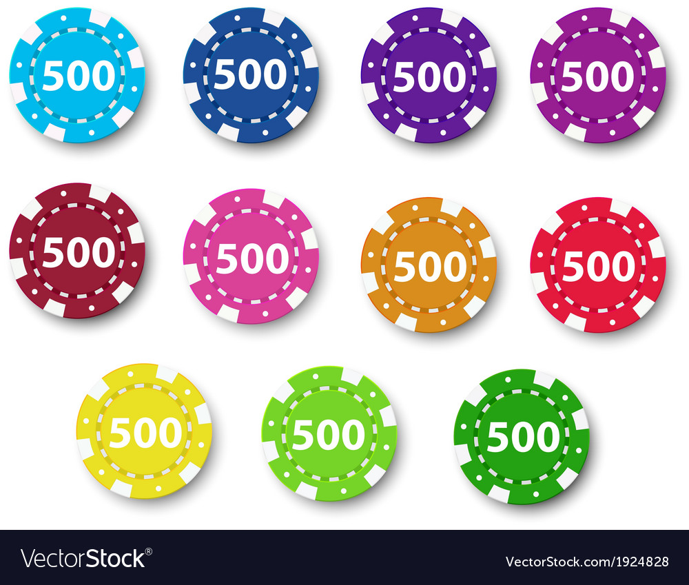 Eleven poker chips vector | Price: 3 Credit (USD $3)