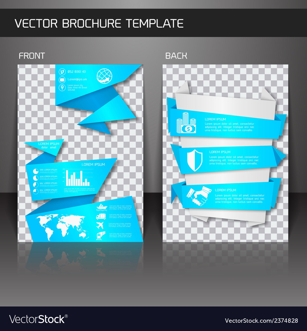 Flyer brochure template vector | Price: 1 Credit (USD $1)