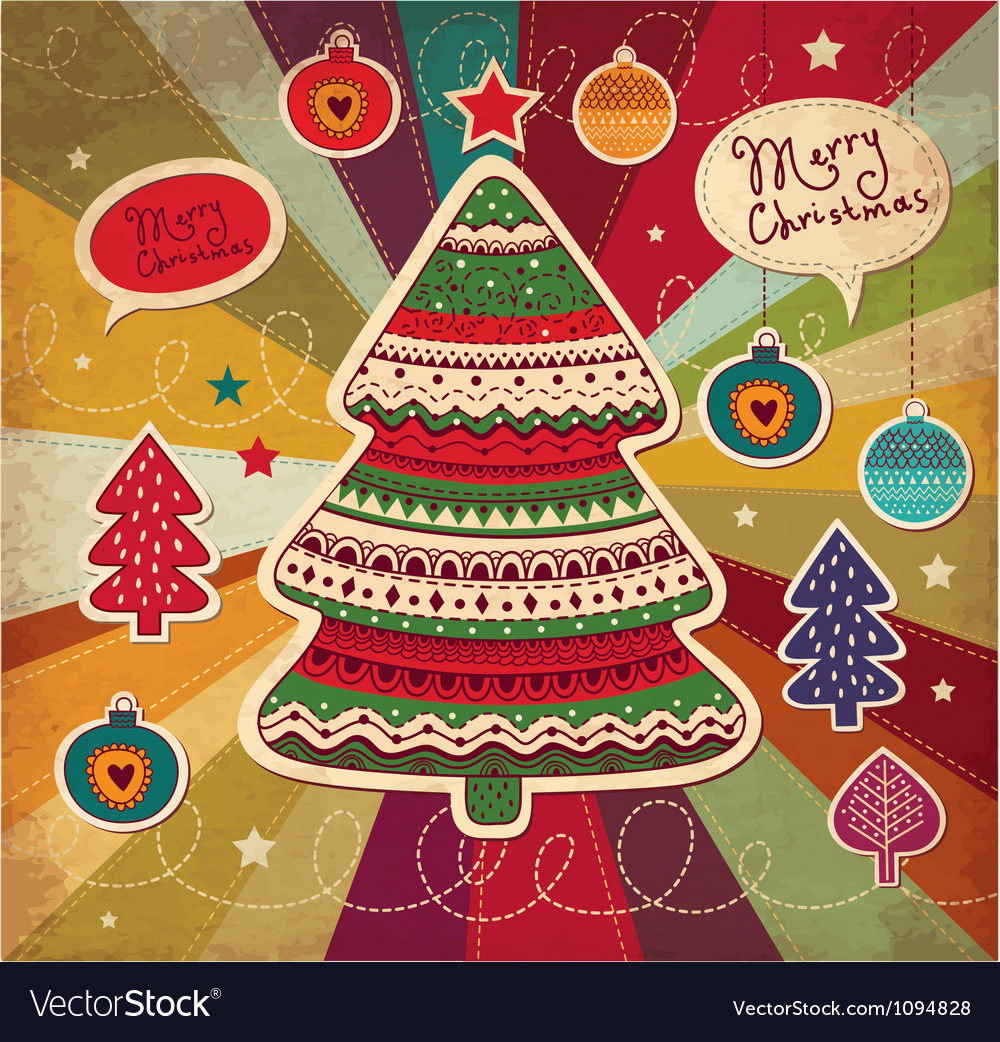 Funky christmas card vector   Price: 1 Credit (USD $1)