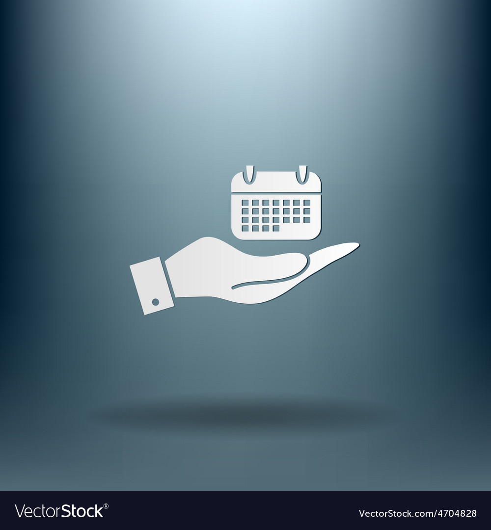 Hand holding a calendar vector | Price: 1 Credit (USD $1)