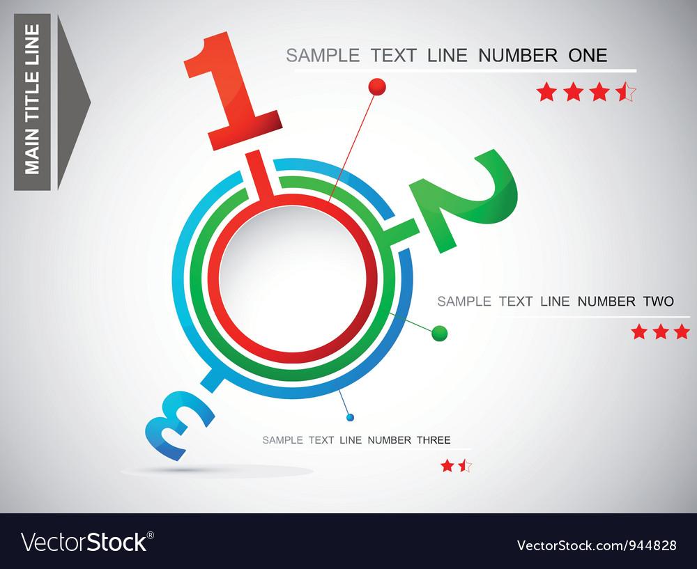Numeral display vector | Price: 1 Credit (USD $1)