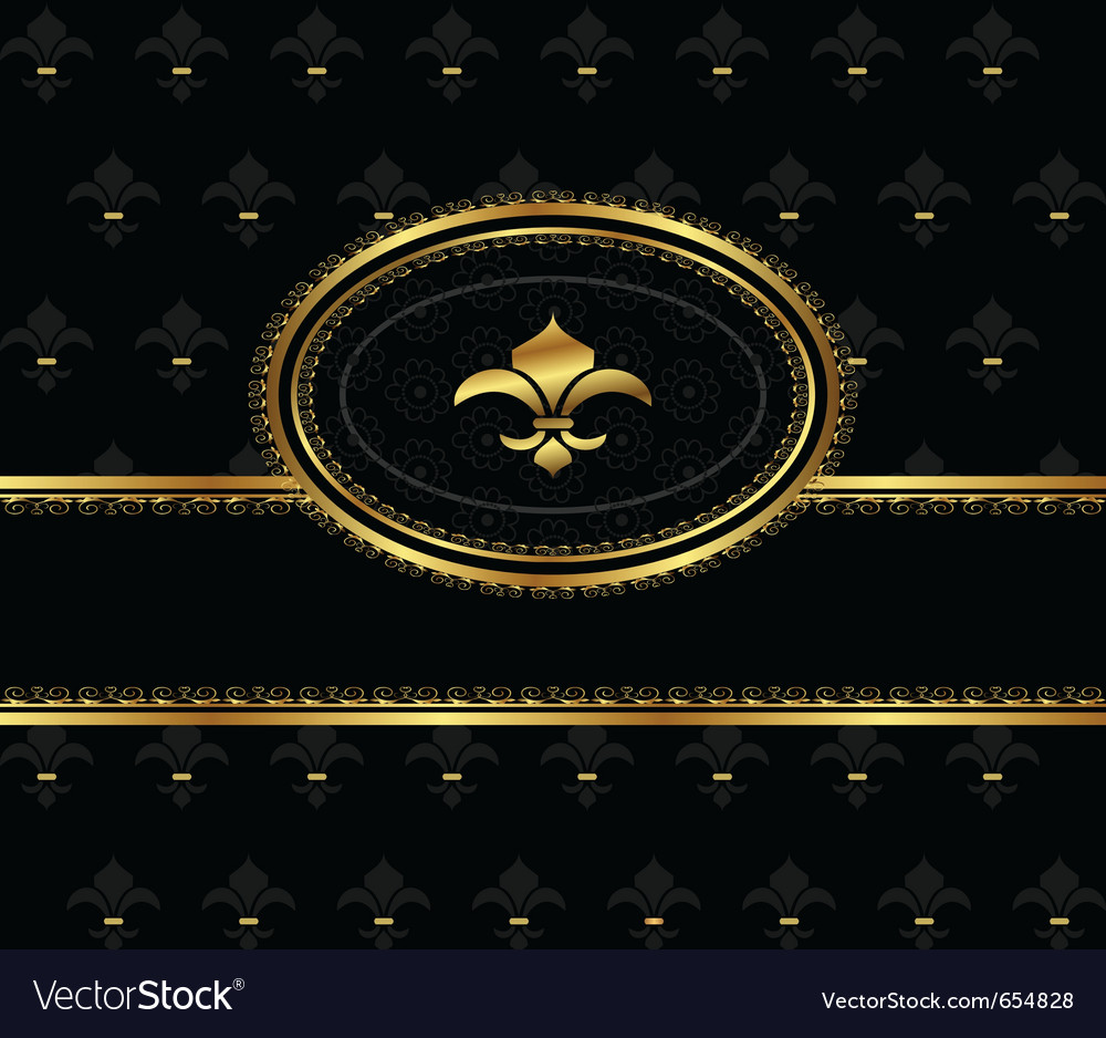 Royal background with golden frame - vector | Price: 1 Credit (USD $1)