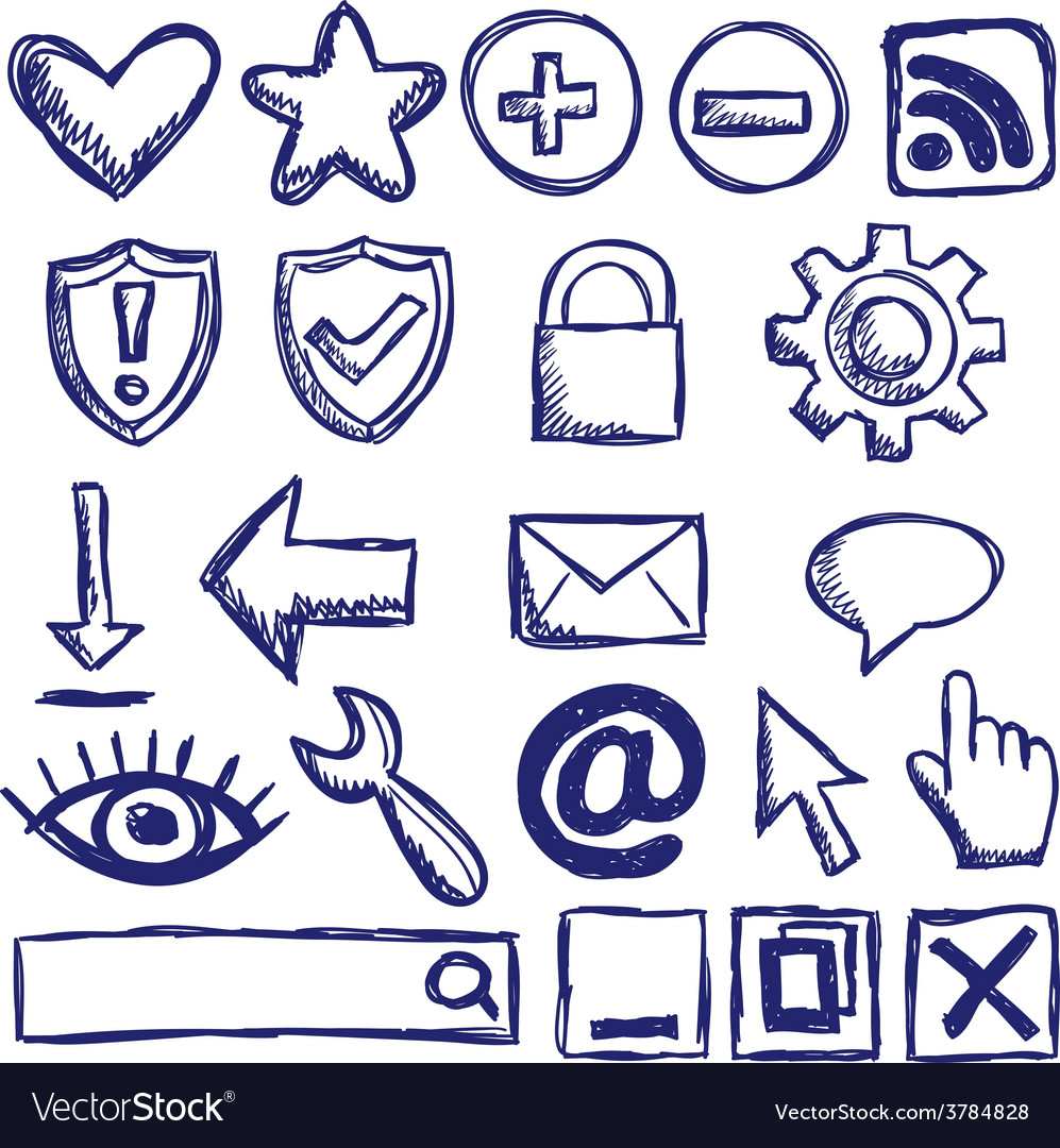 Set of nternet web icons vector