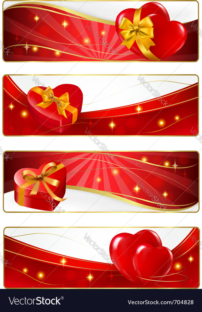 Valentine day banners vector | Price: 1 Credit (USD $1)