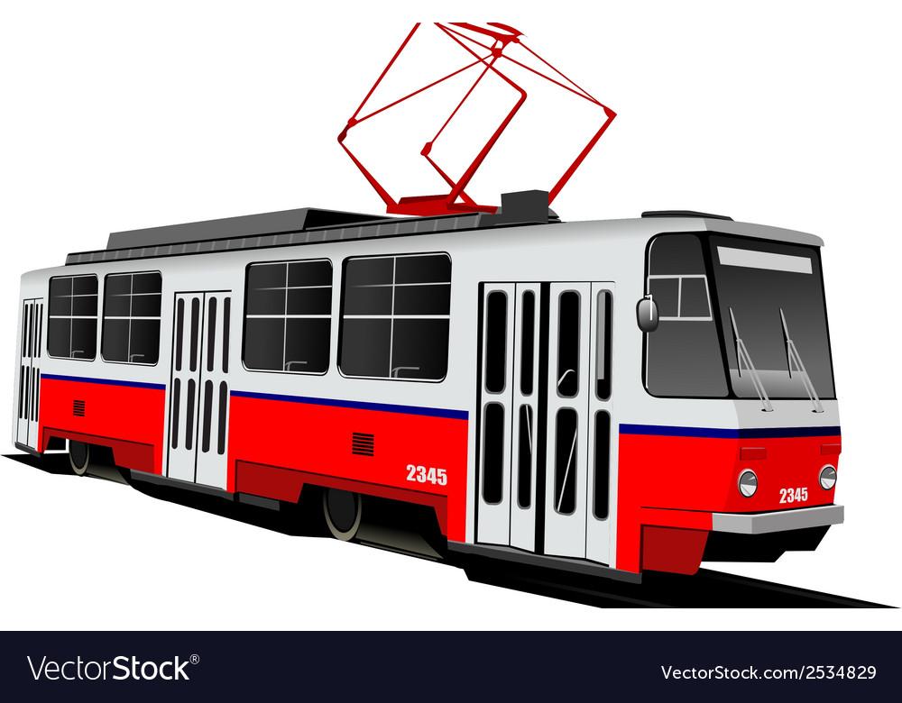 Al 0604 tram 01 vector | Price: 1 Credit (USD $1)
