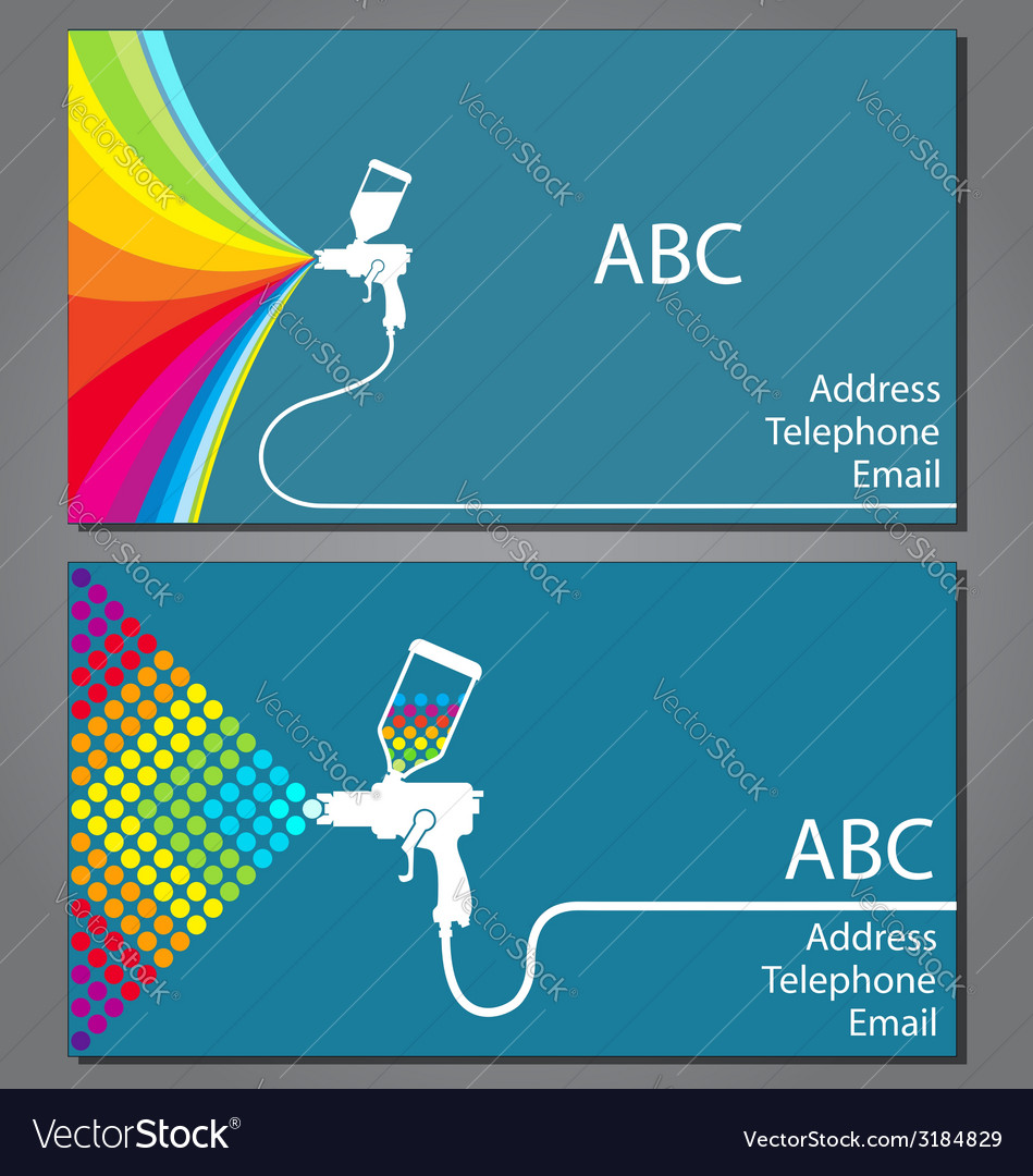 Business card for house painter vector | Price: 1 Credit (USD $1)