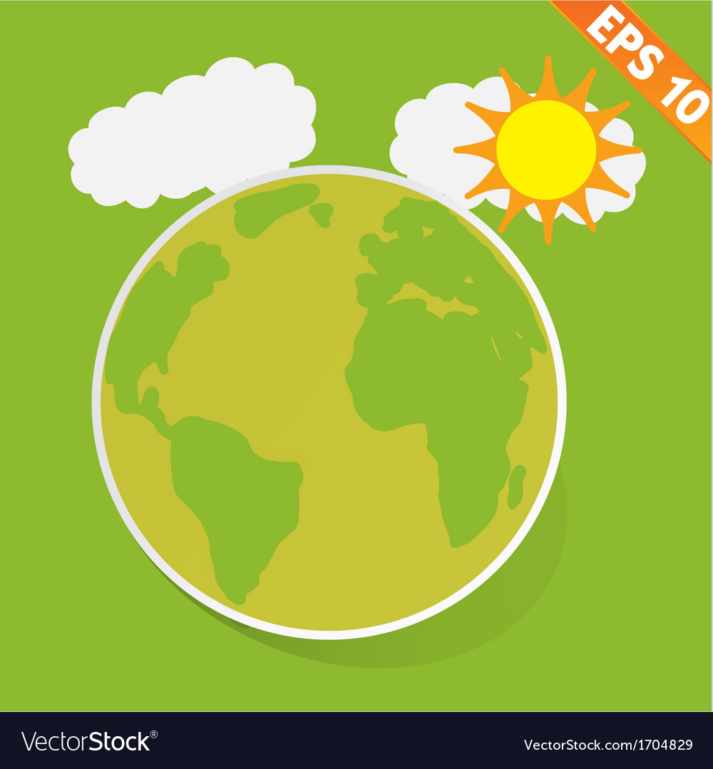 Cartoon with green ecology - - eps10 vector | Price: 1 Credit (USD $1)