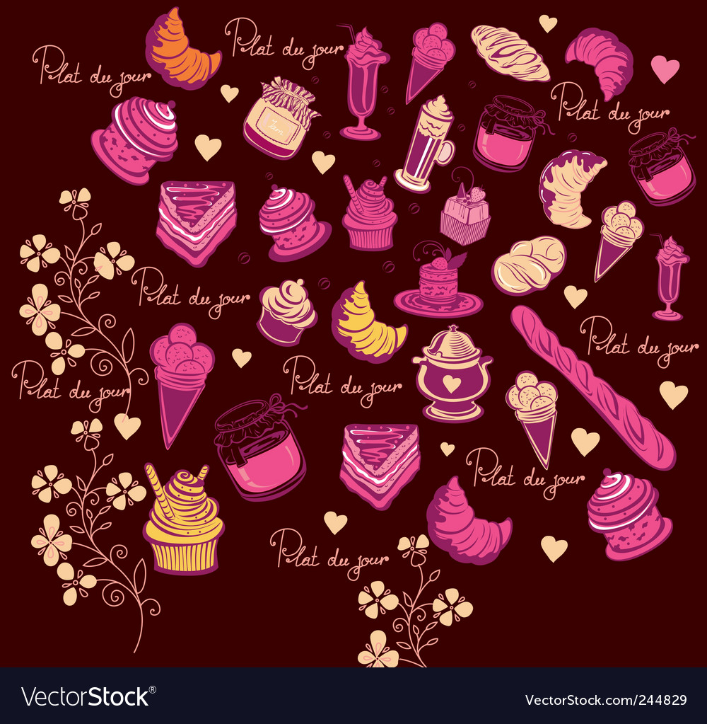 Culinary pattern vector | Price: 1 Credit (USD $1)
