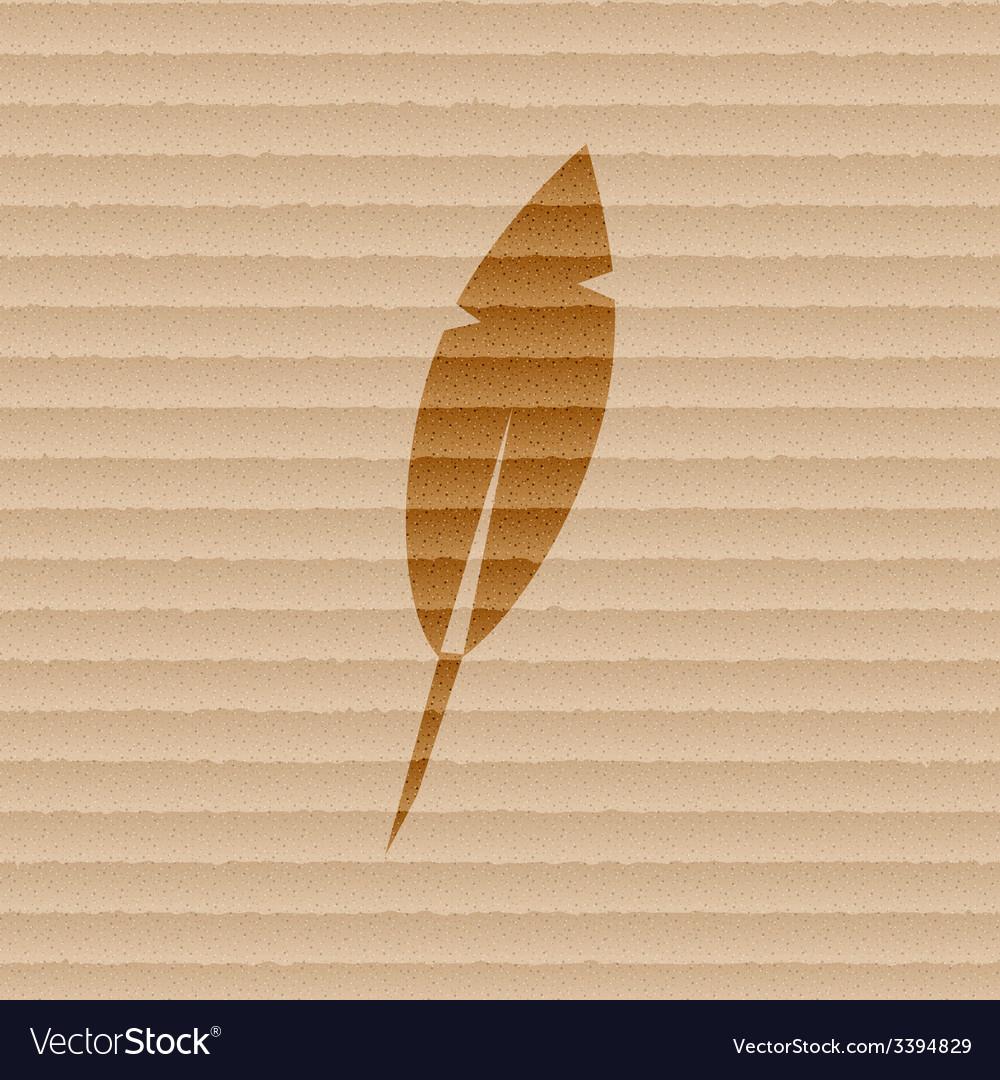 Feather retro pen icon symbol flat modern web vector | Price: 1 Credit (USD $1)