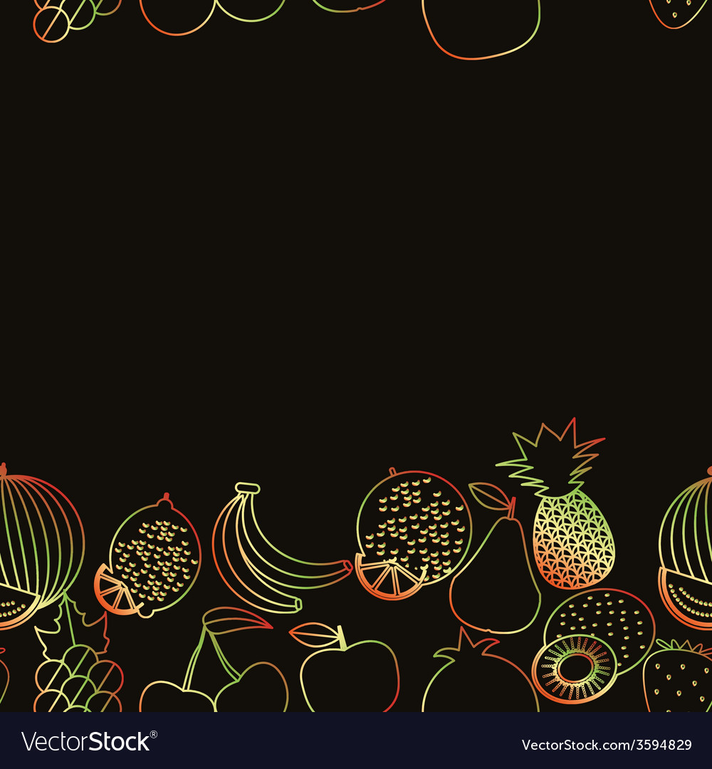 Fruit seamless border pattern the image of fruits vector | Price: 1 Credit (USD $1)