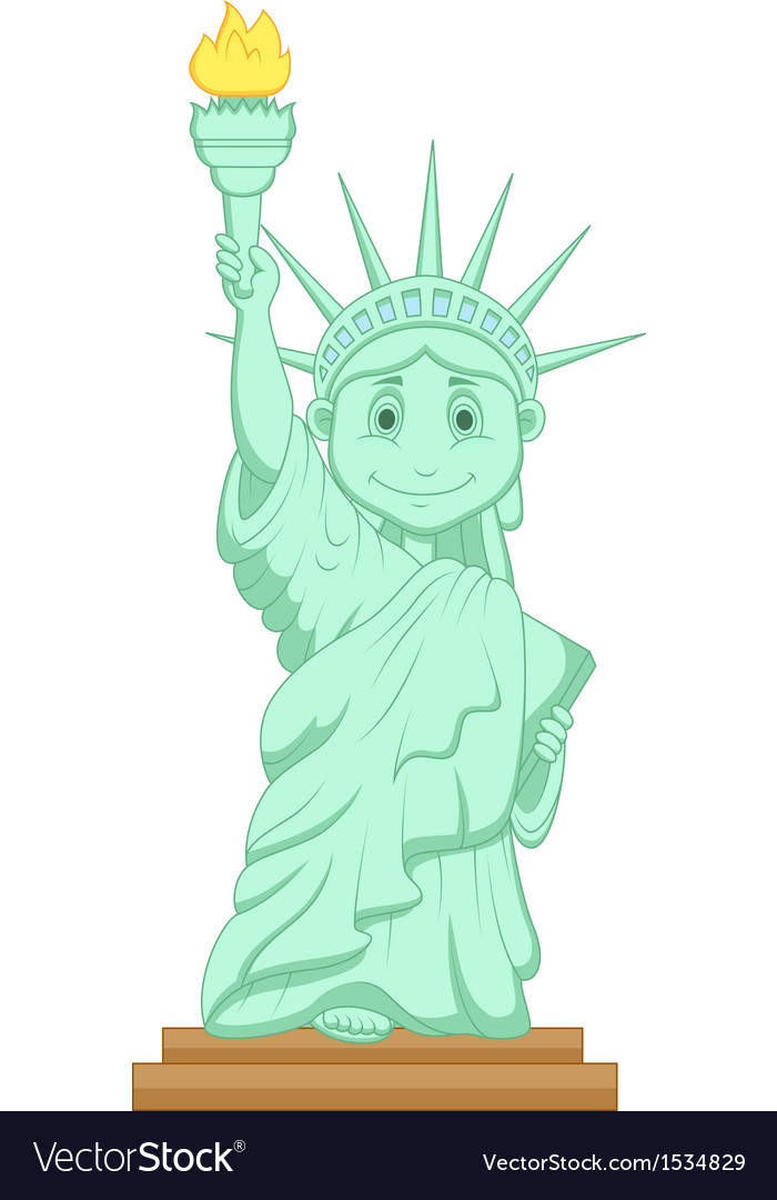 Liberty statue cartoon vector | Price: 1 Credit (USD $1)