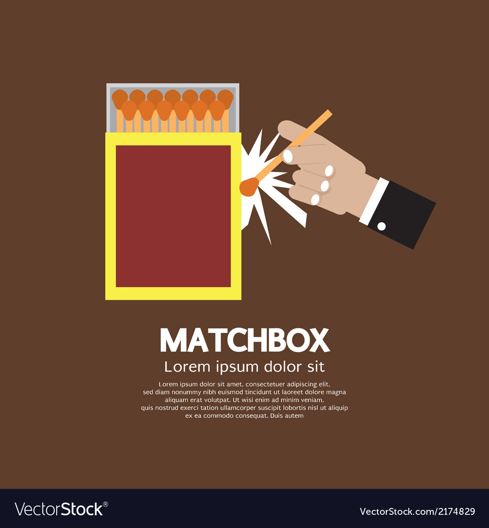 Matchbox container vector | Price: 1 Credit (USD $1)