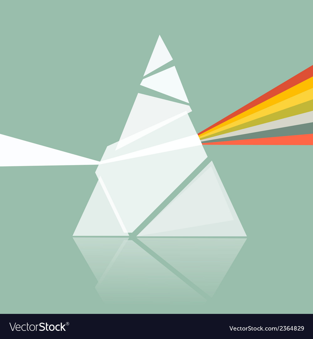 Prism spectrum on retro background vector | Price: 1 Credit (USD $1)