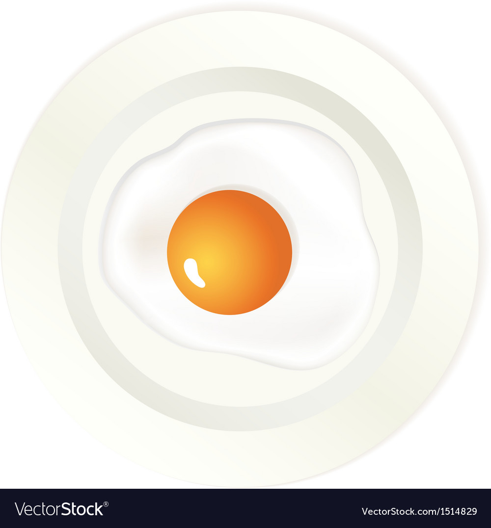 Scrambled egg on plate vector | Price: 1 Credit (USD $1)
